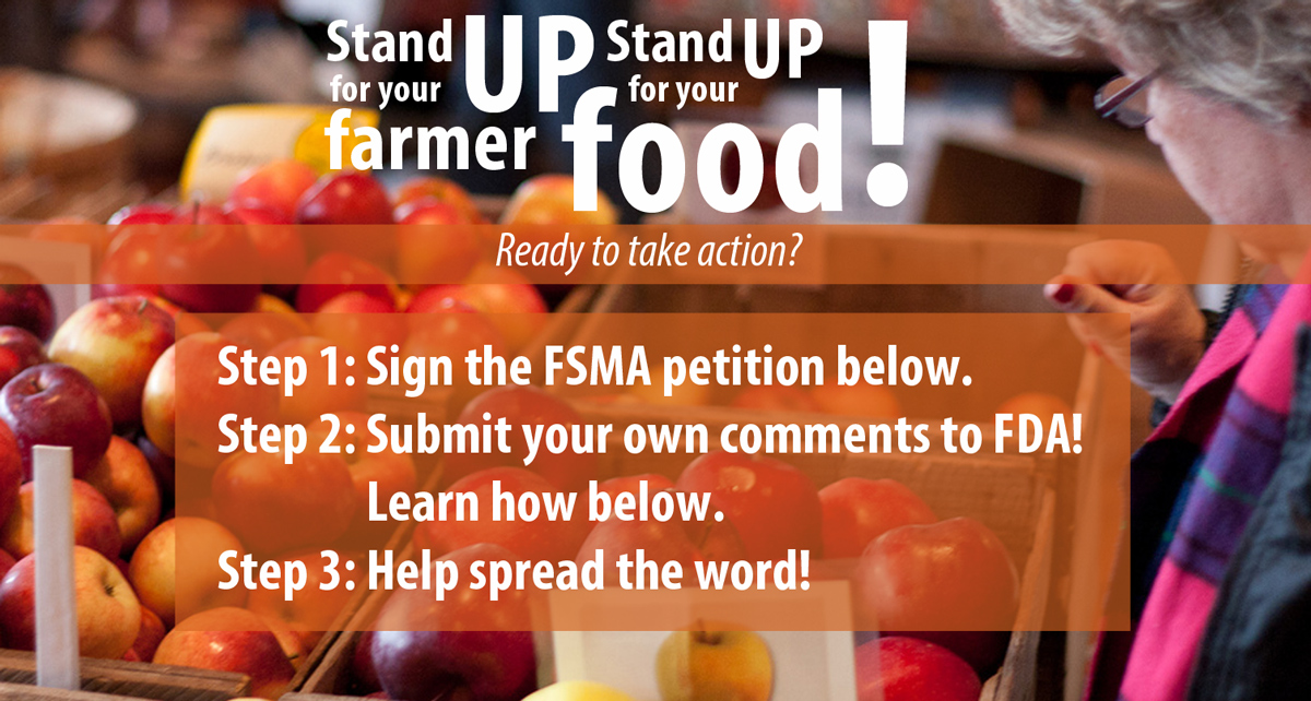 Stand up for your farmer, stand up for your food!