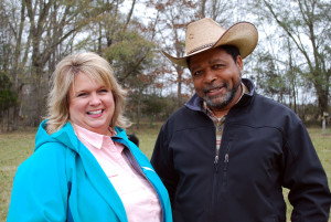 Sutton Gibbs, Greensboro NRCS and Cornelius Joe. Photo credit: Amelia Hines.