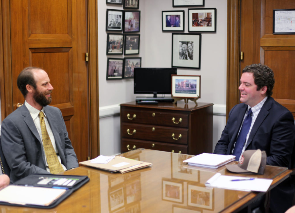 Farmer Will Reed meeting with the office of Senator Cochran R-MS)